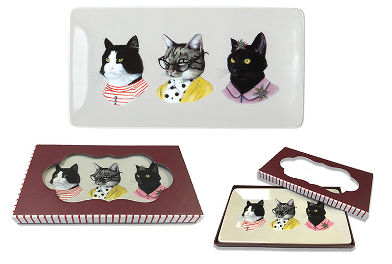 Kitty themed gift set from galison the purrington post